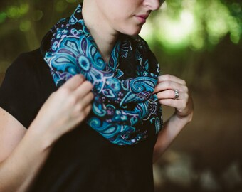 Paisley Patterened Infinity Scarf