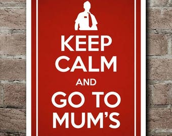 "KEEP CALM and Go To Mum's: Shaun Of The Dead - Poster (12""x18"")"