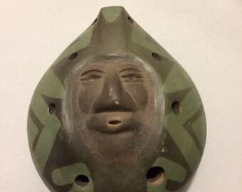 Vintage Guerrero Face Flute