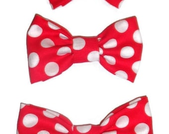 NEW! Red Polka Dot Dog Bow Tie