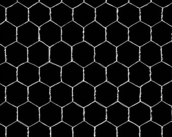 Black chicken-wire fabric by Loral Designs.