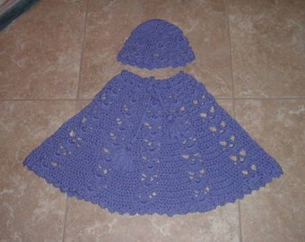 Dream Poncho and Hat CROCHET PATTERN