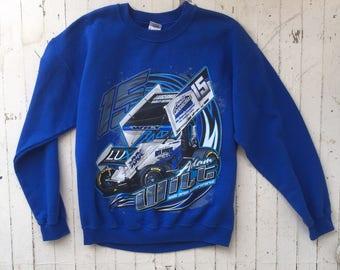 Vintage Motorsports Crewneck Medium / Vintage Sweatshirt / Car Racing Shirt / 1990s Crewneck / Adam Wilt