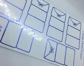 Foldover Envelope Foiled Planner Stickers
