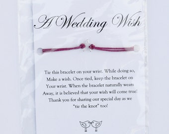 A Wedding Wish - Wish Bracelets - Custom Wedding Table Favors Your Guests Will Love! (Wedding Jewelry, Bridesmaid Gifts, Wedding Favors)