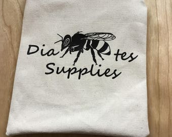 Hand-Sewn Canvas Diabetes Supply Pouch