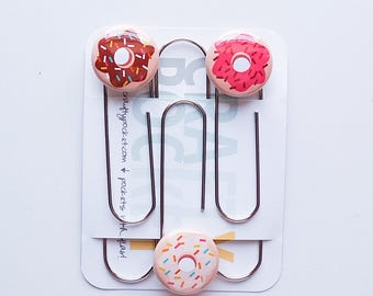 Donut Love No. 1 - Mini Flair Planner Paper Clips