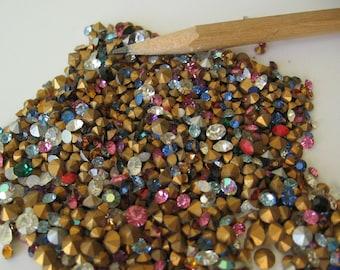 5 grams of assorted mixed Swarovski rhinestone crystals