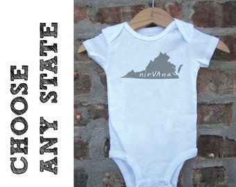 state baby clothing, state baby gift, state bodysuit, state love, state shower gift, baby neutral, cute baby gift, free shipping