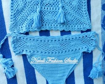 Crochet bikini bottom size S, Boho bikini, Crochet swimsuit, Crochet bikini,Hot bikini, Crochet swimwear