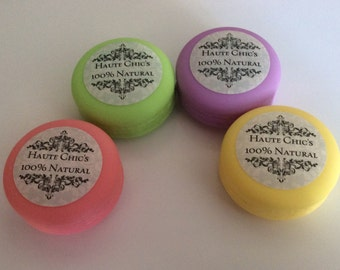 Lip Balm (Lemon and Lime) 100% Natural Macaroon Container