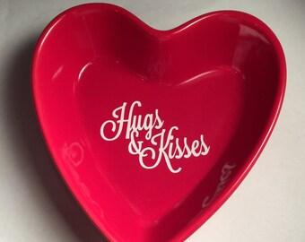Custom Heart Dish, Ceramic Dish, Ring Holder, Candy Dish, Personalized Heart Dish, Jewelry Dish, Monogrammed