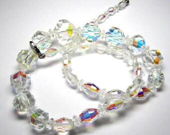 Graduated Austrian Crystal Bead Necklace