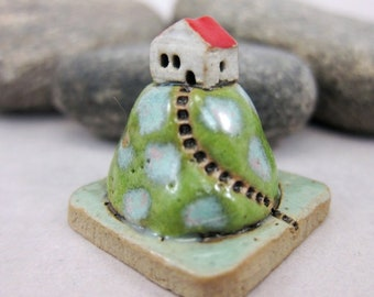 Chilly Morning...Collectible 3x3 cm or 1.2x1.2 in. puzzle in stoneware