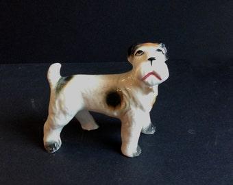 Vintage Dog Figurine, Schnauzer, Terrier