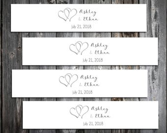 100 Hearts Wedding Invitation Belly Bands Wraps.