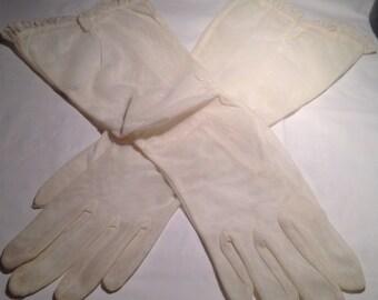 Vintage Ruched Mesh Gloves