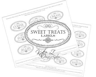 Sweet Treats Label Digital PDF Download