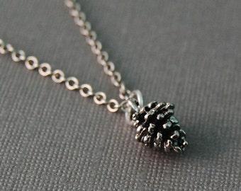 Silver Pinecone Necklace