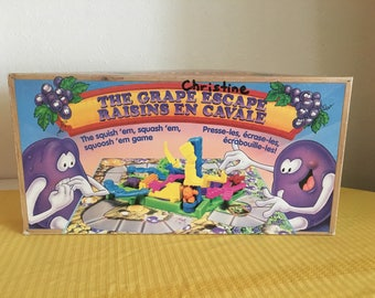 The Grape Escape, Vintage Game, Vintage Board Game, 1992, 1990s Board Game