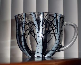 birch tree coffee mug (1 available right away)