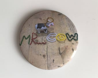 The Marvellous Mr Cow Official Merch pin back button badge, fridge magnet or pocket mirror