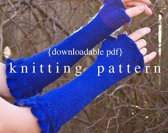 Rosetta Armwarmers Knitting Pattern - PDF digital document download - how to instructions - fiber craft diy knit