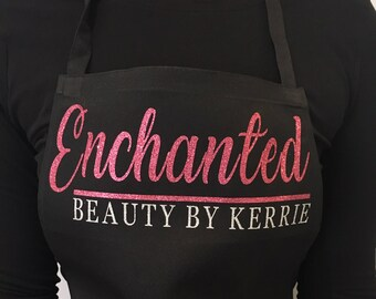 Personalised Apron. Create your own. Workwear, salon, beauty, overalls. suitable for nails, hair,lashes,microblading work. Logo, branding