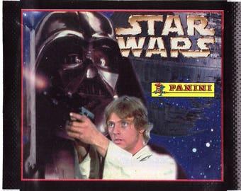 Rare UNOPENED 1996 Star Wars LUKE SKYWALKER and Darth Vader European Panini Sticker Pack