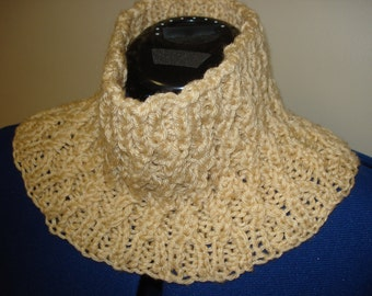 Oatmeal knit cowl