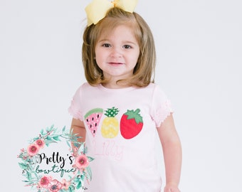 Tutti Fruity bodysuit/Shirt -- Summer T shirt -- Fruit BirthdayShirt-- Personalized shirt-- Pineapple Strawberry Watermelon Shirt