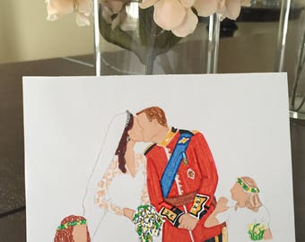 Anniversary Card- Kate and William