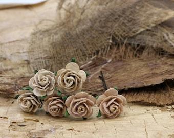 Brown Roses Hair Pieces, Paper Flower Hair Pins , Bridal Hair Pins, Hair Bobby Pins,rustic wedding,Bridal Hair Accessories (FL378)
