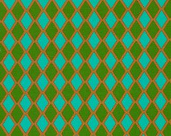 Jennifer Paganelli, Madison in Green, Happy Land, Diamond Fabric, Quilt Fabric, One Yard