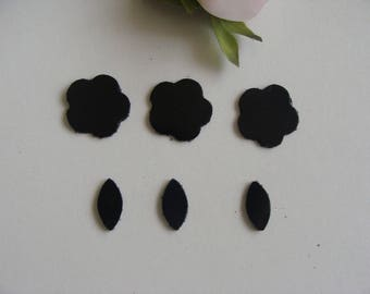 applique patterns matching black leather