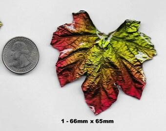 Gorgeous Large Genuine Maple Leaf Focal Pendant Beads 1 pc