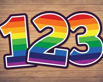 Rainbow numbers svg, unicorn birthday number, stripe png, striped dxf first third girl second, 1st 2nd 3rd 4th, 5th 1 2 3 4 5, age old, year