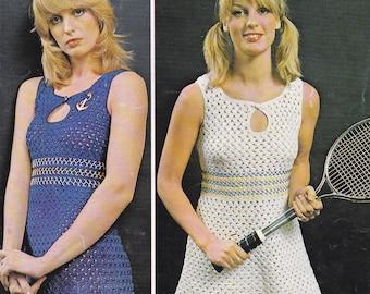 PDF crochet mini dress vintage crochet pattern pdf INSTANT download pattern only pdf 1970's dress two lengths