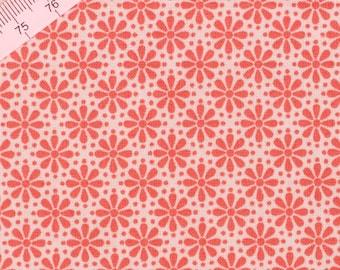 Tilda Little Flower Orange Fabric  / Wintergarden Collection - Large Fat Quarter