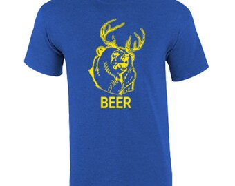 T-Shirt Dear Plus Bear Equals Beer Custom Shirt & Ink Color