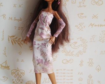 Charleston outfit pale pink and gold for Monster High doll