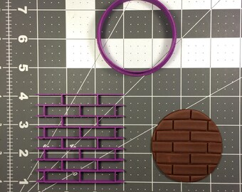 Brick Imprint Cookie Cutter and Stamp
