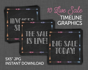 Live Sale, Facebook Live Sale, Facebook Timeline Announcement Images - 10