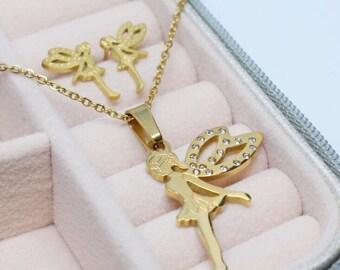 FAIRY Jewelry Set (Necklace + Earrings)