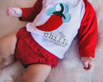 "Swanky Shank Gender Neutral Winter Tee ""One Chilly Pepper"""