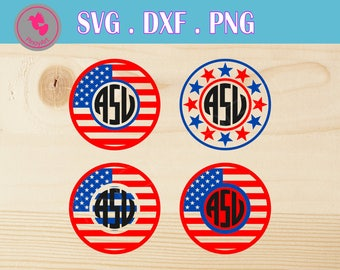 fourth of july svg file, 4th of july svg file, fourth of july monogram svg, monogram svg file, independence day svg file, independence dxf