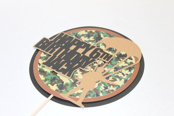 Army cake topper army birthday party army party camouflage
