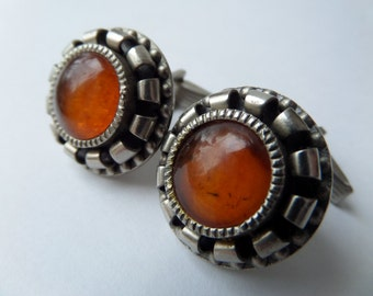 Men Amber Cufflinks,Antique Amber Baltic Cufflinks,Amber Cufflinks 1960s,Amber Men Cuff Links,Women Amber Cufflinks