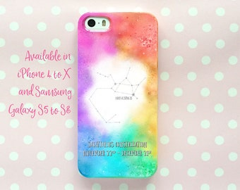 Sagittarius Galaxy phone case - iPhone 7 Plus, Samsung S8+ and more - Zodiac constellation gift - customised snap-on case - rainbow colour