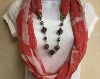 Light Weight Red Infinity Scarf